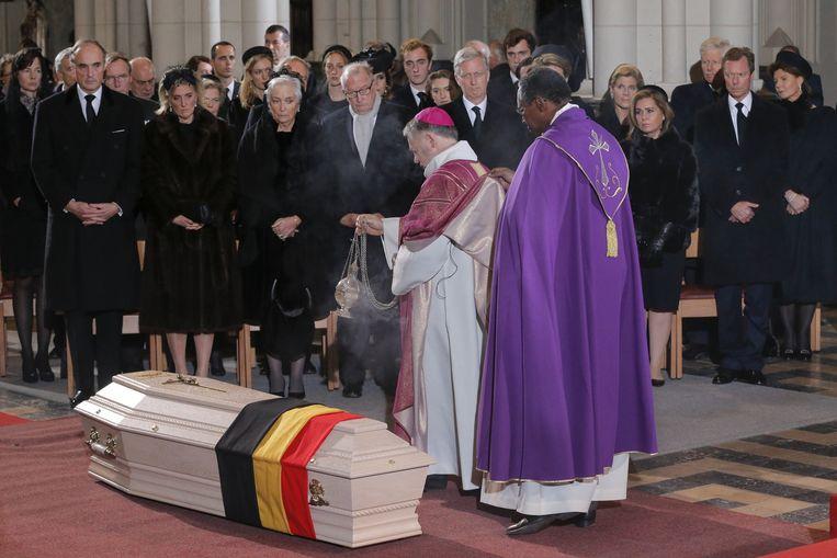 De plechtigheid in de Onze-Lieve-Vrouwekerk in Laken.