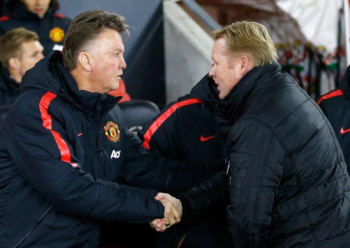 8 december 2014, Louis van Gaal en Ronald Koeman treffen elkaar als managers van Manchester United en Southampton.