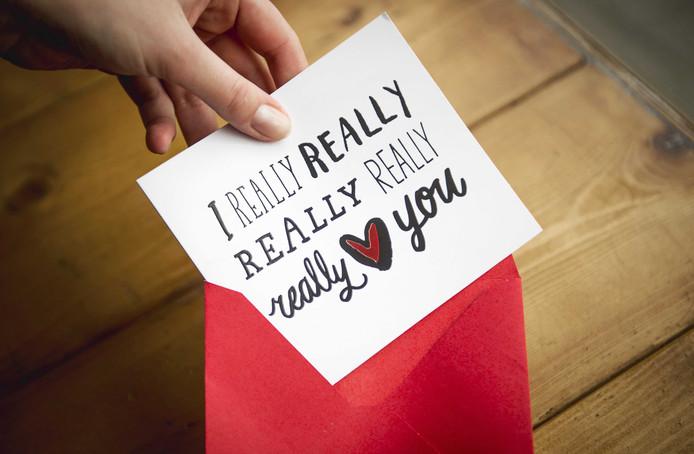 Wie krijgt een kaartje met Valentijn?