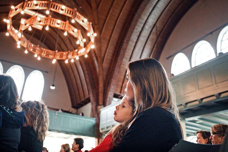 Kerkdienst voor Dieren in de Nassaukerk. Beeld Guus Dubbelman / de Volkskrant