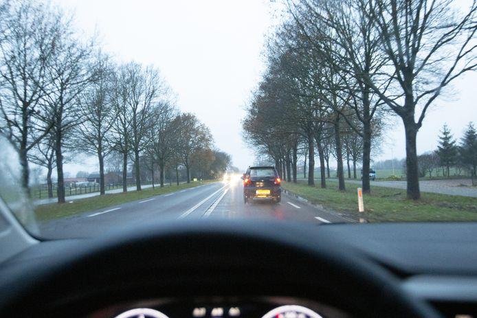 De N35 tussen Wierden en Nijverdal