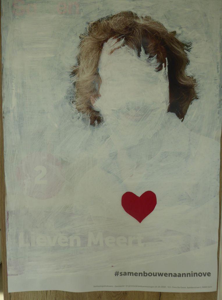 Het haar van Lieven Meert heeft voortaan een eigen affiche.