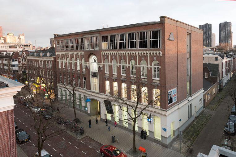 Gezicht op het Witte de With Center for Contemporary Art in Rotterdam. Beeld Bob Goedewaagen