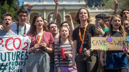 Duizenden klimaatactivisten protesteren met Greta Thunberg en Anuna De Wever inRome