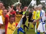 Vreugde in laatste wedstrijden: spelers eren kale coach met badmutsen