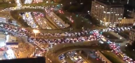 Les embouteillages monstres à Paris avant le début du confinement