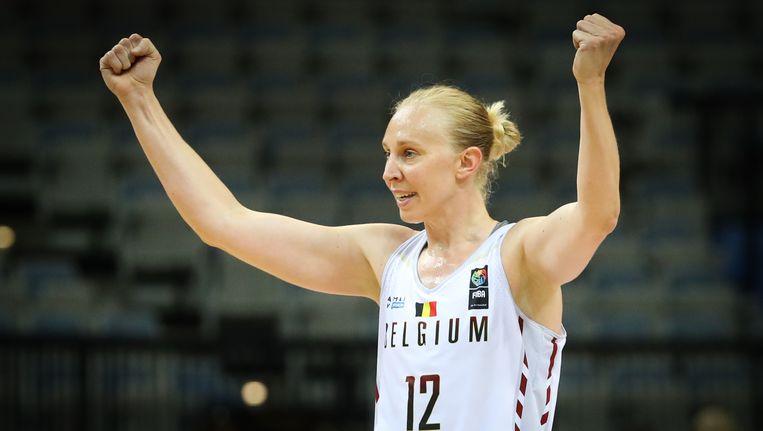 Ann Wauters balt de vuisten, België heeft zich voor het eerst in de geschiedenis geplaatst voor het WK basketbal.