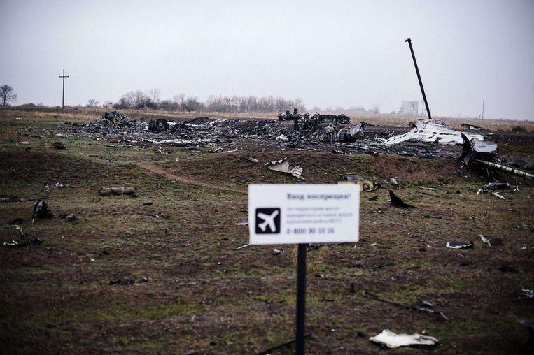 De rampplek in november 2014. Beeld afp