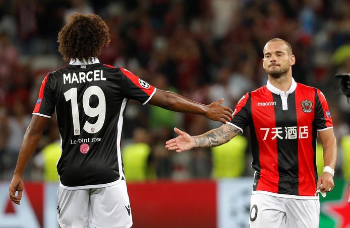 Wesley Sneijder (rechts).