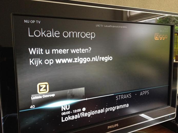 Op kanaal 40 wordt nu nog niets uitgezonden en het beeld blijft op zwart.