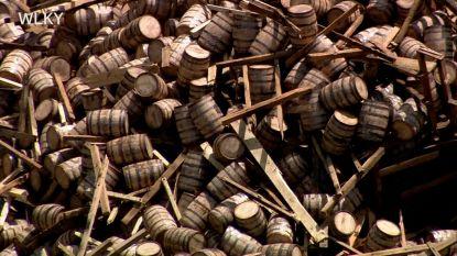 Beschadigd whiskeymagazijn stort volledig in: rest van de 18.000 vaten dondert naar beneden