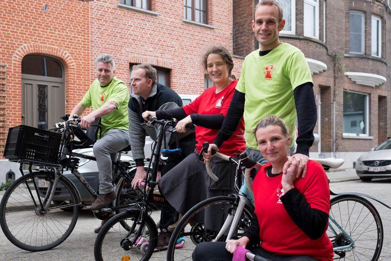 De fietsers van Team Prinses Harte zijn er klaar voor.