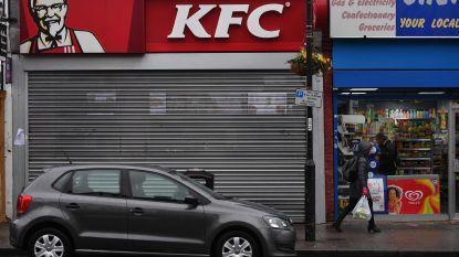Kippentekort: KFC sluit ruim twee op de drie restaurants in Groot-Brittannië