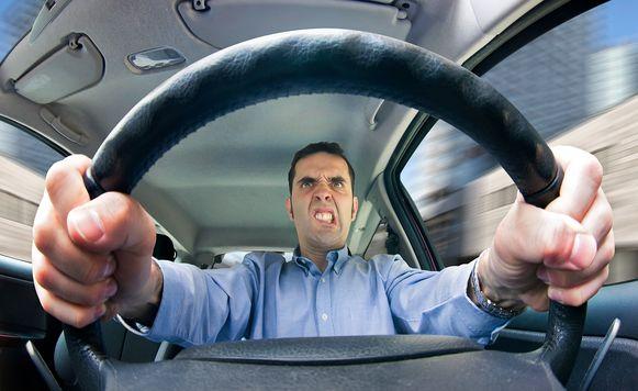 Ondersteunend beeld: verkeersagressie.