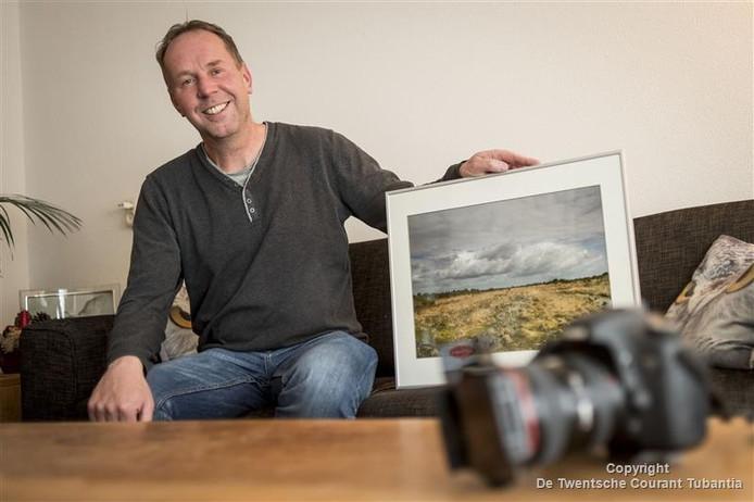 Tom Kruissink uit Vriezenveen met zijn winnende foto van Engbertsdijksvenen.