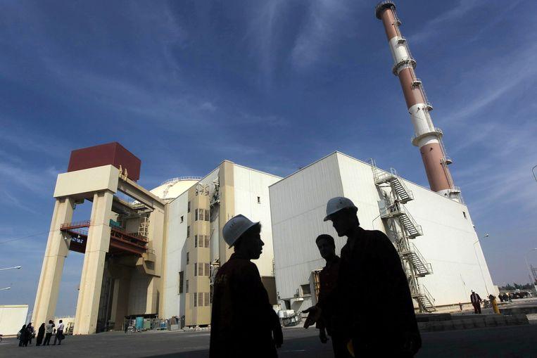 De nucleaire fabriek van  Bushehr in Iran.