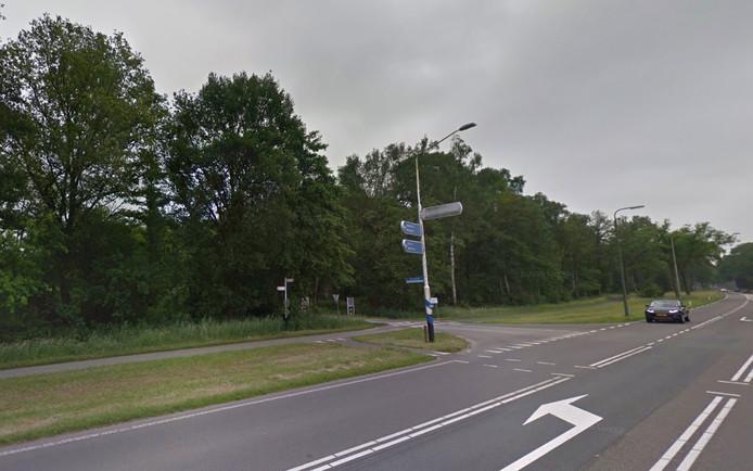 De plek op de Raalterweg waar het incident zou hebben plaatsgevonden.