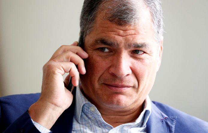 Rafael Correa, de oud-president van Ecuador.