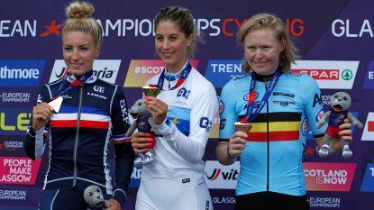 """Brons! Githa Michiels knalt naar derde plaats op EK mountainbike: """"Dit is een droom die uitkomt"""" - Schuermans 13de bij de mannen, Van der Poel geeft op"""