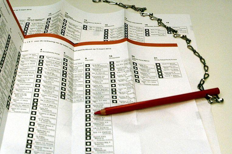 Stembiljet (ANP) Beeld WFA ROBERT VAN WILLIGENBURG