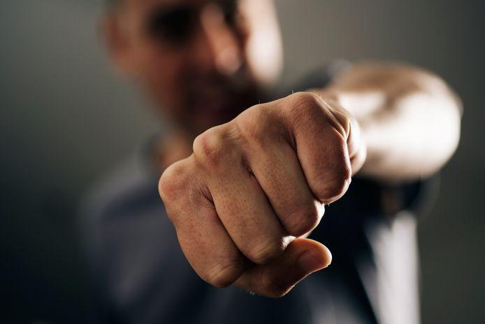 vuist geweld mishandeling stock