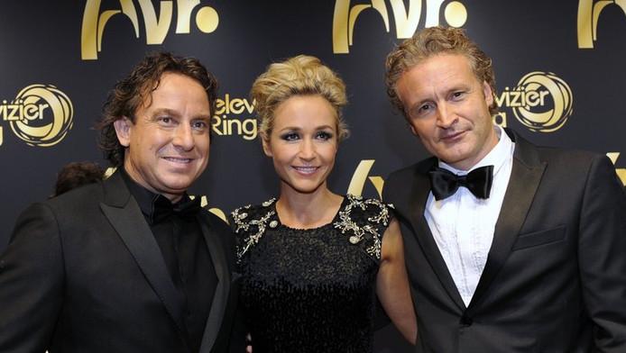 TVoH-coach Marco Borsato, presentatrice Wendy van Dijk en RTL-programmadirecteur Erland Galjaard.