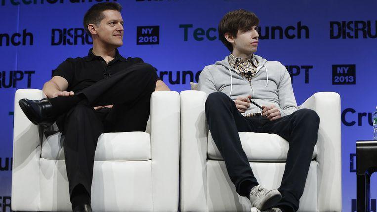 David Karp van Tumblr (rechts). Beeld null