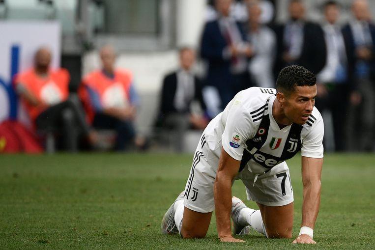 Ronaldo was in Turijn gedreven op zoek naar zijn eerste goal voor Juventus. Beeld null