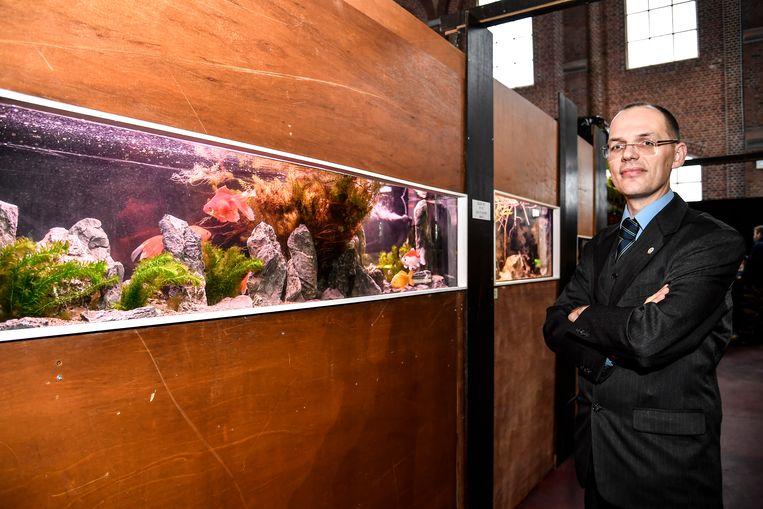 Voorzitter Bart Van Aken is trots op het vijftigjarig bestaan van Betta en de grote tentoonstelling die momenteel loopt.