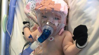 Eerst hartziekte en nu ook corona: Erin (6 maanden) vecht voor leven in Brits ziekenhuis