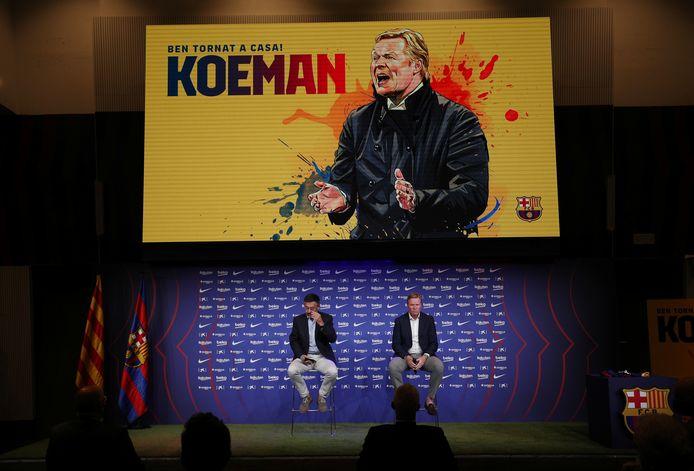 Ronald Koeman tijdens de persconferentie.