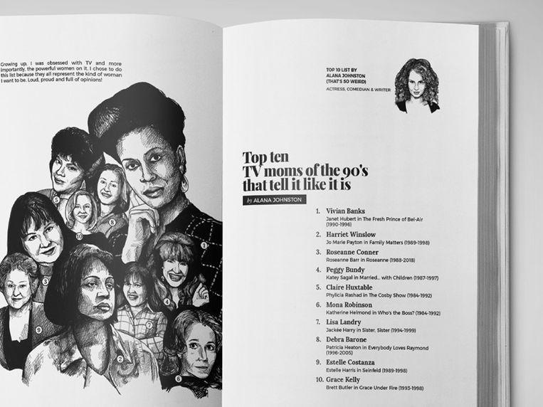 Actrice Alana Johnston en haar top tien tv-moeders uit de jaren 90.