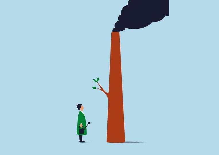 Politieke besluiten rondom het klimaat moeten namelijk wel zichtbaar zijn, zo lijkt het, en het liefst aaibaar, net als onze liefdadigheid. Beeld Francesco Ciccolella
