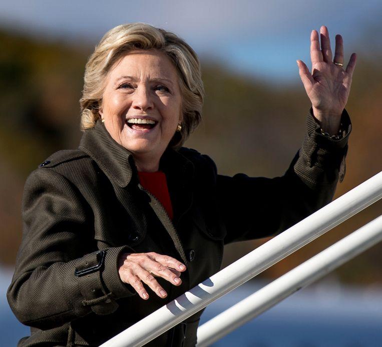 Hillary Clinton, vandaag in New York. Beeld AP