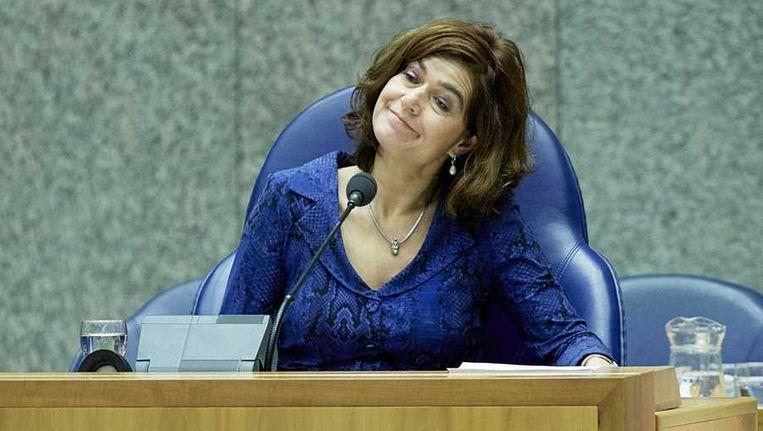 Kamervoorzitter Anouchka van Miltenburg tijdens het debat over de agenda voor de Europese top, half december. Beeld anp