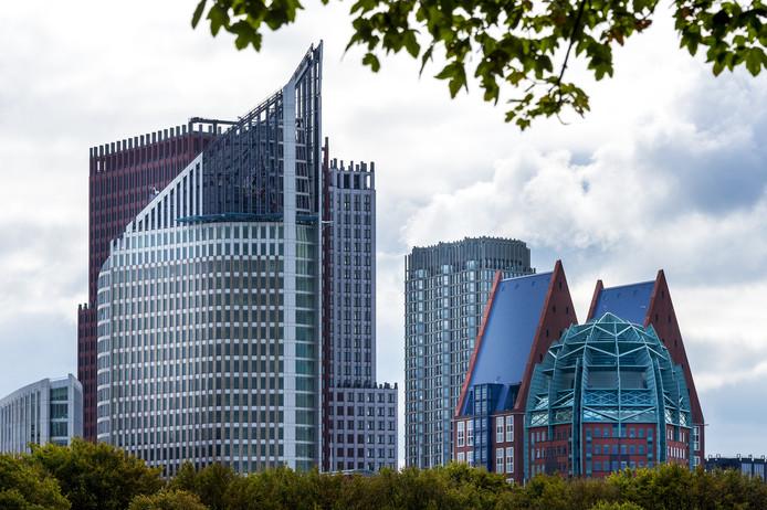 Skyline van Den Haag met verschillende ministeries. Foto ter illustratie.