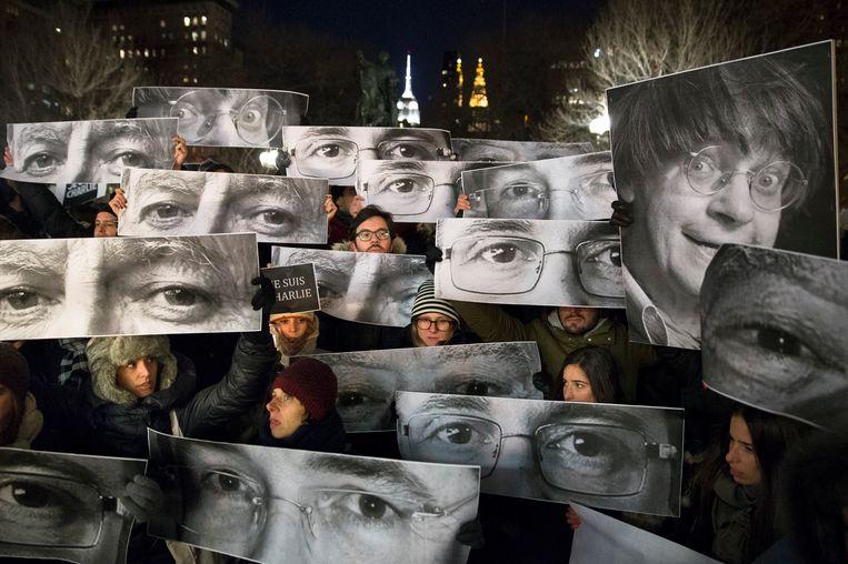 Demonstranten afgelopen weekend in New York. Beeld ap