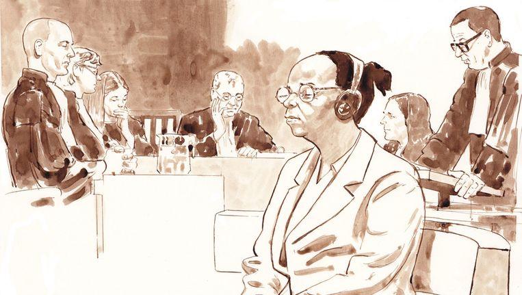 Yvonne B. tijdens het proces in de rechtbank van Den Haag. Beeld anp