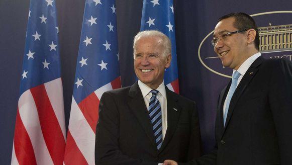 Biden had onder meer een ontmoeting met de Roemeense minister-president Victor Ponta.