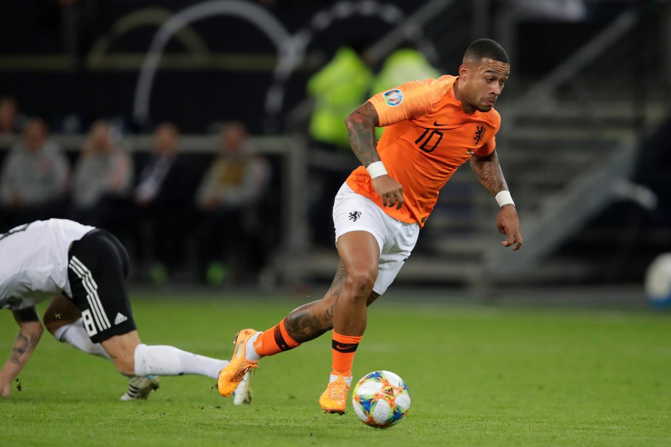 Memphis was tegen Duitsland één van de uitblinkers van Oranje.