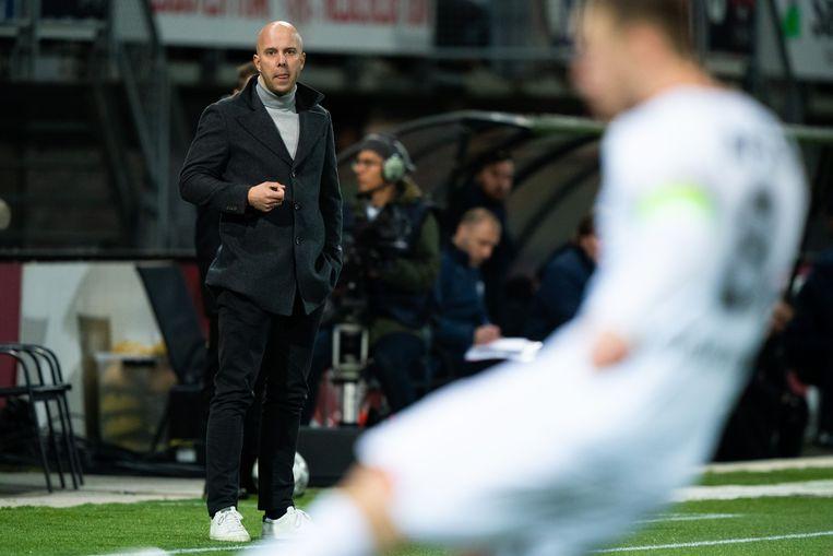 Arne Slot, de trainer van AZ. Beeld ANP Sport
