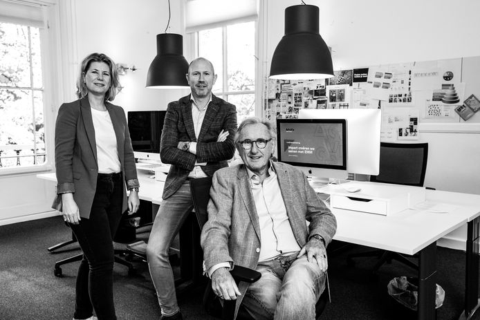 Ciel, Alain en Pim van der Wildt (vlnr). Alain: ,,We zijn goed in relativeren en scheiden werk en privé.''