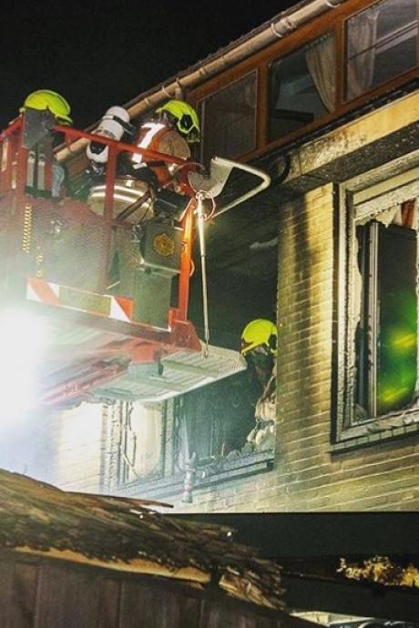 Woning uitgebrand in Spijkenisse