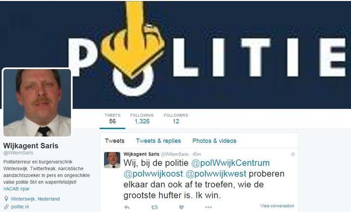 Het nepaccount van Willem Saris op Twitter.