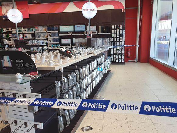 De politie zette een deel van de winkel af, maar klanten waren zaterdag wel nog welkom in het filiaal.
