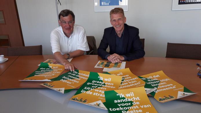 De burgemeesters Henk Hellegers en Marnix Bakermans.