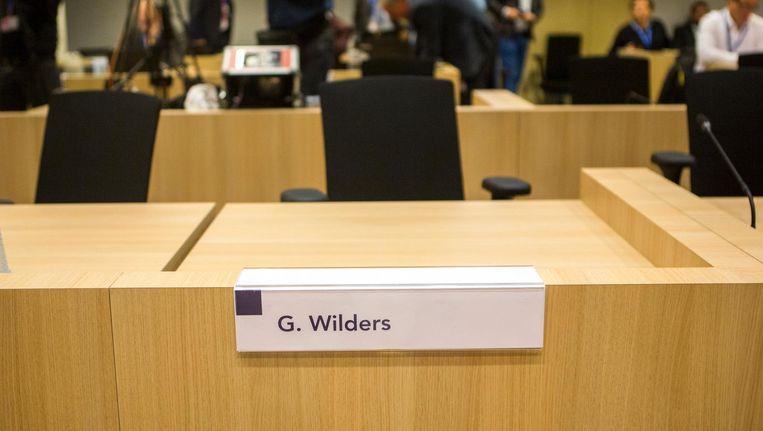Wilders was wederom afwezig tijdens de zitting. Beeld Julius Schrank / de Volkskrant