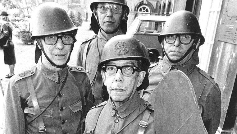 KNIL-demonstratie bij de Tweede Kamer, 1977, toen al over achterstallige betalingen Beeld ANP