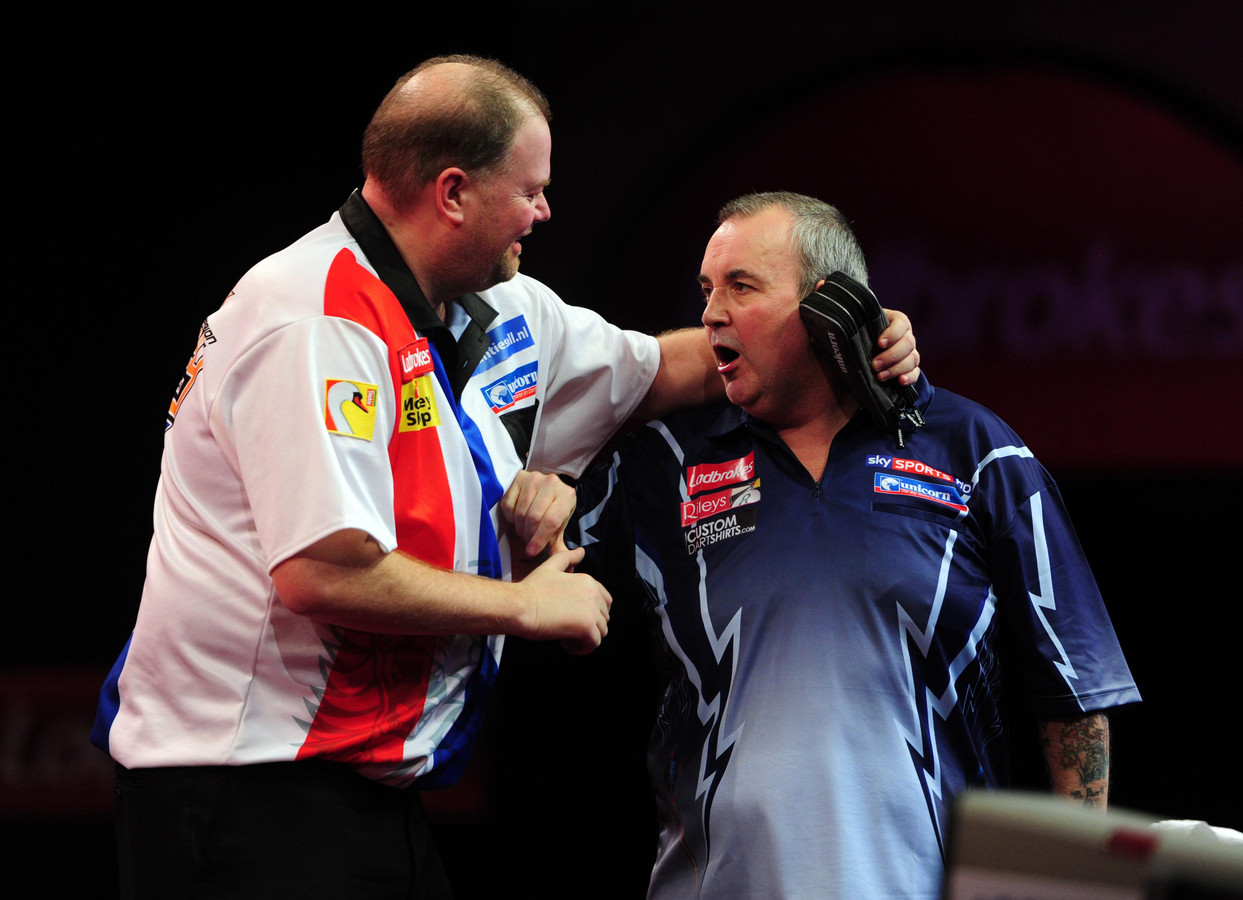 2012: Raymond van Barneveld en Phil Taylor werkten in het verleden veel prachtige dartsgevechten af.