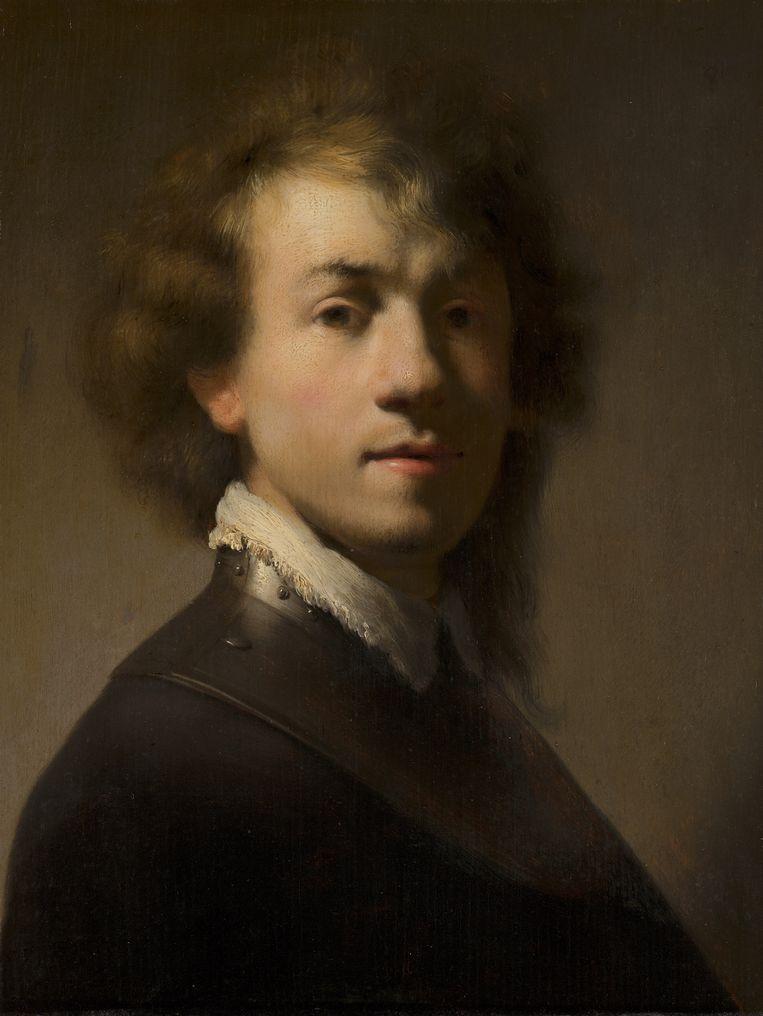 Portret van Rembrandt met ringkraag.
